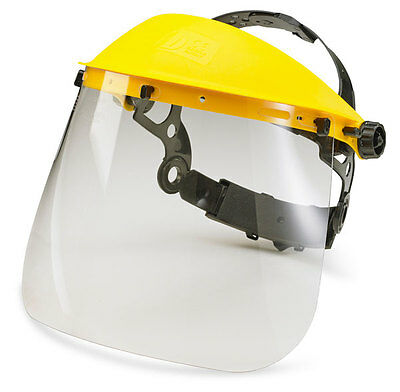 "BBrand 7.5"" Clear Transparent Visor Face Shield EN166 for use with Brow Guard"