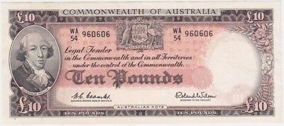 1960 R63 Ten Pound Coombs/Wilson about Unc