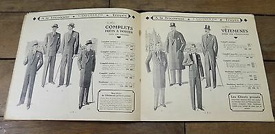 Catalogue Ancien Mode masculine Homme Fashion men Troyes Gaucher Fils 1929