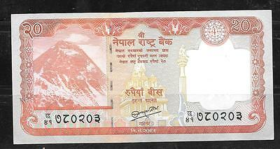 Nepal #71 2012 20 Rupees  Mint Crisp New Banknote Paper Money Currency Bill Not