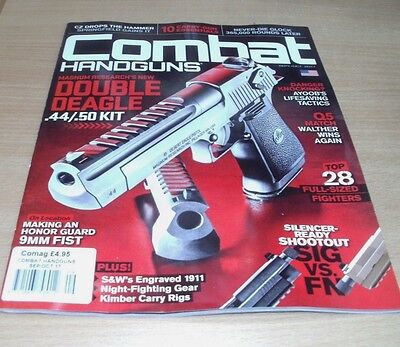 Combat Handguns magazine SEP/OCT 2017 Top Full-Sized Fighters, SIG vs FN & more