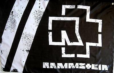"Rammstein Flagge / Fahne ""logo S/w"" - Posterflag -"