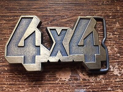 4 x 4 Brass Belt Buckle