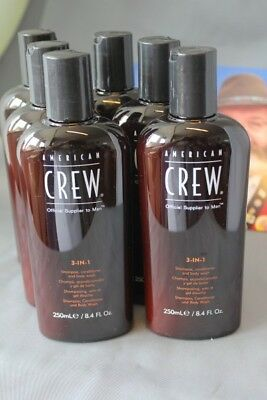 American Crew 3 in 1 Shampoo 6 x 250 ml (19,99€/1l)