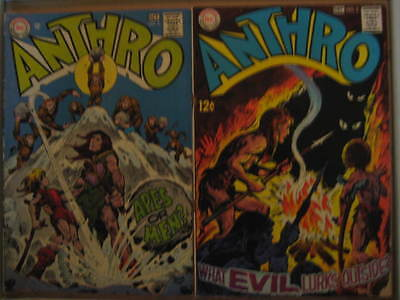 "Anthro #s 2,3 (1968) ""Apes or Men?"" & ""What Evil Lurks Outside?"" Fn and Vg."