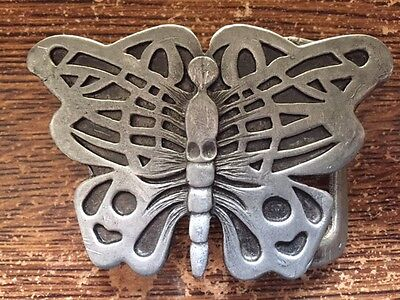 Butterfly Pewter Belt Buckle