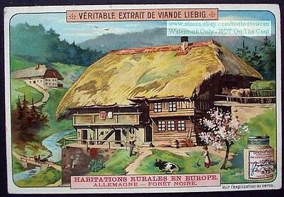 German Germany Black Forest Farm House Building 1905 Trade Ad Card