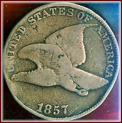 1857 Flying Eagle   Always Collectable Very Good  Bargain Priced $9.95 to Open