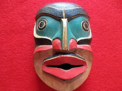 Northwest Coast Ceremonial Mask .... Hand Carved & Painted Mask, #wy-00346