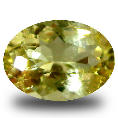0.66 ct AAA Valuable Oval Shape (7 x 5 mm) Yellow Heliodor Beryl Gemstone