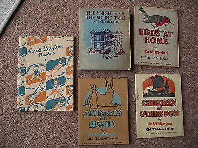 5 books by Enid Blyton Childrens Animals at home The knights of the round table