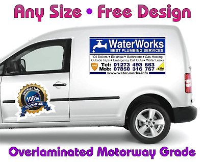 Magnetic Van Car Taxi Advertising Sign Free Design Full Colour Over Laminated