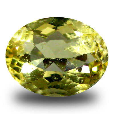 1.10 ct AAA Eye-catching Oval Shape (8 x 6 mm) Yellow Heliodor Beryl Gemstone