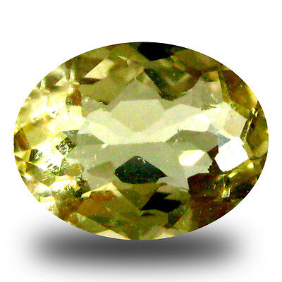 0.90 ct AAA First-class Oval Shape (8 x 6 mm) Yellow Heliodor Beryl Gemstone