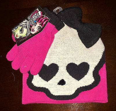 Monster High Winter Hat And Gloves Set Outerwear NEW Clothing