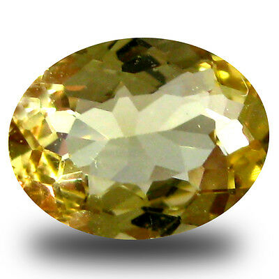0.86 ct AAA Fantastic Oval Shape (8 x 6 mm) Yellow Heliodor Beryl Gemstone