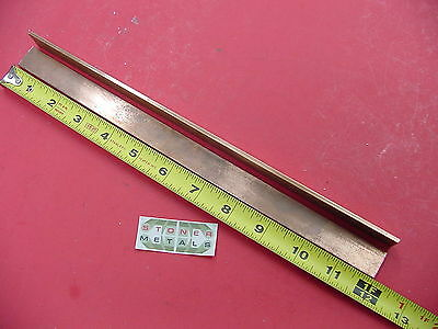 "2 Pieces 1/8"" x 1"" C110 COPPER BAR 12"" long Solid Flat Mill Bus Bar Stock H02"