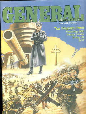 GENERAL Vol.28 No.4 Avalon Hill The Western Front, ASL, Panzer Leader, D-Day ...