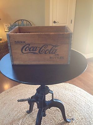 Very Vintage Coca Cola Wooden Crate 18.5 X 12 X 10 Stamped 6 Times California