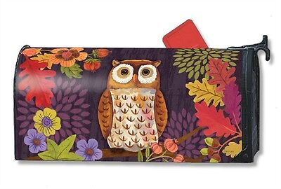 Magnet Works Floral Owl Original Magnetic Mailbox Wrap Cover