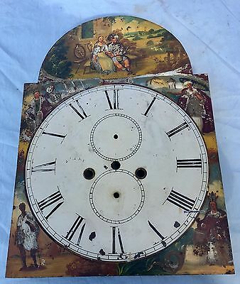 "A 13""by18.75"" Scotish Grandfather Longcase Clock Dial  Has Middle Kirkwall"