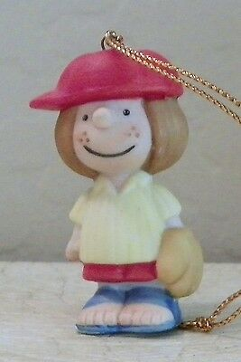 1988 Vintage Willitts Design Porcelain Peanuts Peppermint Patty Baseball Ornmnt