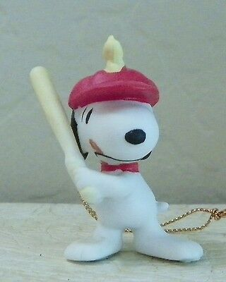 1988 Vintage Willitts Design Porcelain Peanuts Snoopy With Baseball Bat Ornmnt