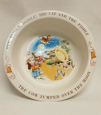 Avon 1984 Childrens Bowl The Cat And The Fiddle  Nursery Rhyme EUC
