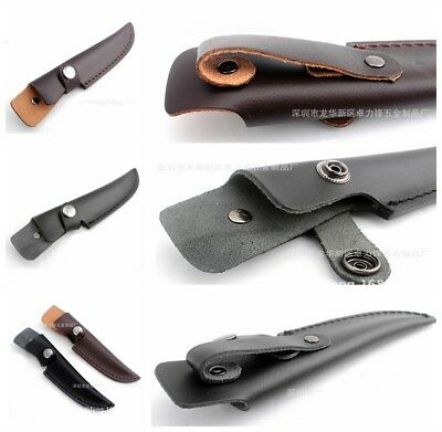 Scabbard Case Straight PU Leather Sheath Bag For Fixed Blade Knife