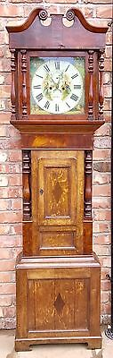 Oak 8 Day Long Case Grandfather Clock By Grithif & Son