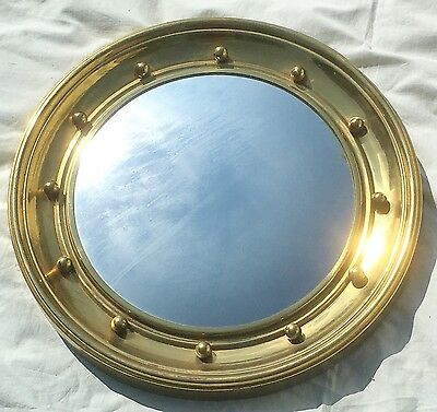 A Round Brass Antique Porthole Mirro