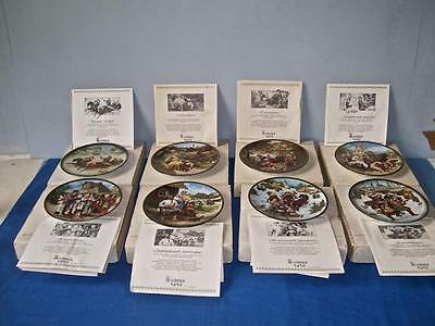 """Complete Set Of 8 """"village Life Of Russia Series """" Collector Plates"""