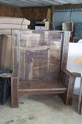 Perforated Steel Bench Great for Nightclub Bar Mancave Garden Eclectic Cool!