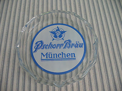 """Vintage Pschorr Brau Muenchen Round 7"""" Ashtray  Made In West Germany"""