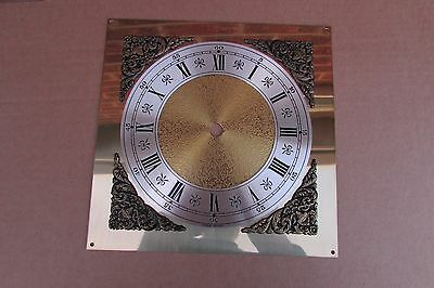 Brass Clock Dial with Silvered chapter ring.5.5 inch minute ring