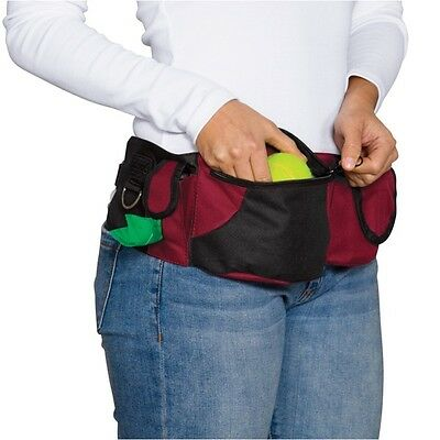 Deluxe Dog Training Treat Bags Red Waist Storage Fanny Pack Travel Accessory