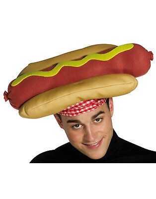 Hot Dog With Mustard Adult Funny Stadium Food Costume Hat
