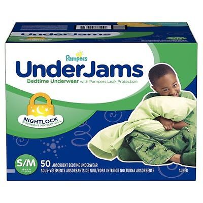 Pampers UnderJams Bedtime Overnight Protection Underwear For Boys S/M 54 Ct