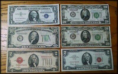 $55 Face Value Old U.S. Currency Lot - BINo