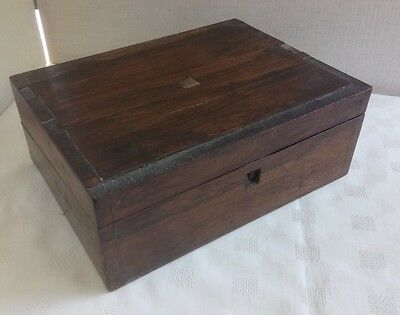 Antique Wooden Writing Slope/box For Restoration