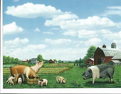 COWS FARM SHEEP PIG Art Print Personalized Name  Poem Prayer