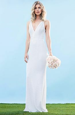 Dress The Population Harper Mermaid Gown White Sz Xs 18000
