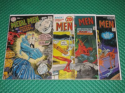 Metal Men Lot of 4 #31,42,55,56 Higher Grade Silver/Bronze Age DC Comics
