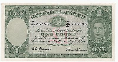 1952 Coombs/Wilson One Pound n ote in v/f grade
