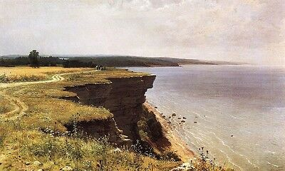Oil Shishkin Ivan Ivanovich Along the shores of the Gulf of Finland Hand painted