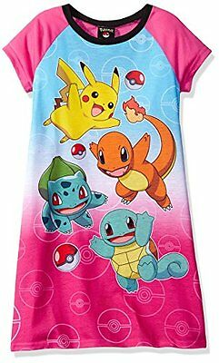 Pokemon Pikachu Girls Short Sleeve Nightgown Pajamas PJs Sleepwear Size 4
