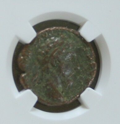 Ancient Roman Empire Marcus Aurelius AE As Victory Advancing NGC Fine 161-180 AD