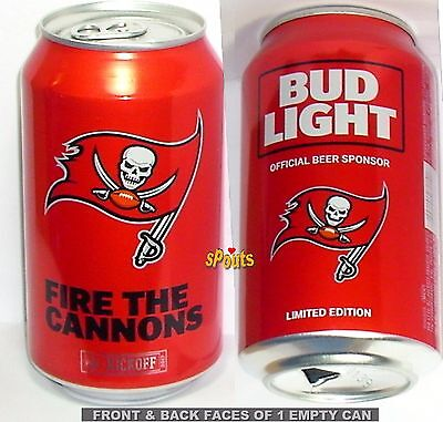 2017 Tampa Bay Buccaneers Football Nfl Kickoff Bud Light Beer Can Florida Sports