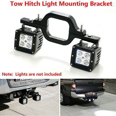 Dual LED Backup Reverse Work Light Mounting Bracket SUV Offroad Tow Hitch KK