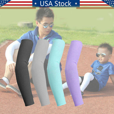 Pairs Cooling Arm Sleeves Sun UV Protection Cover Sport Golf Basketball US Stock